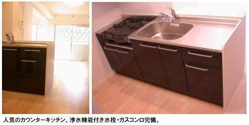 トラント・ドゥ博多 / 403号室キッチン