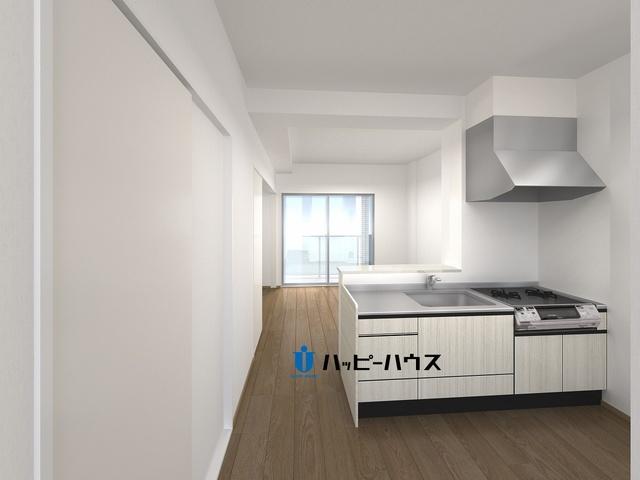 仮称)LIBERTY R TENJIN / E-403号室キッチン